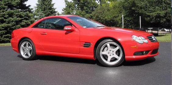 2002 mercedes benz sl500 roadster used car pricing for Mercedes benz trade in value